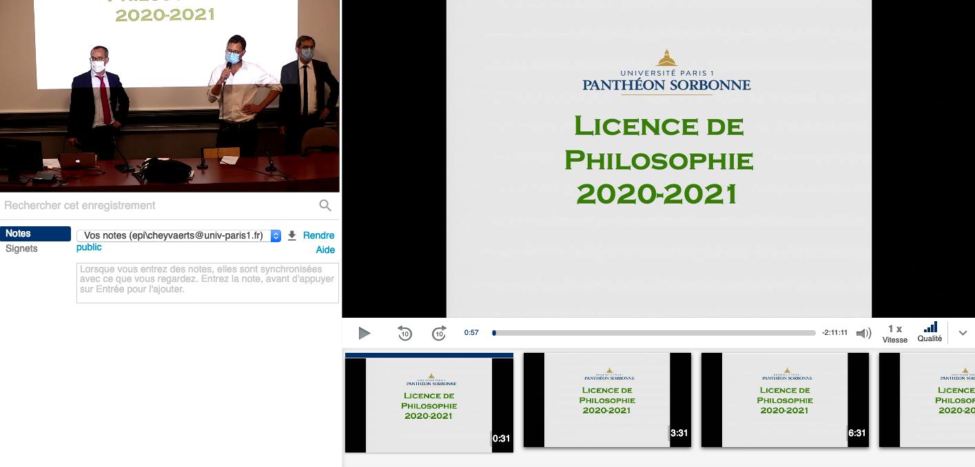 Exemple enregistrement Amphis virtuels