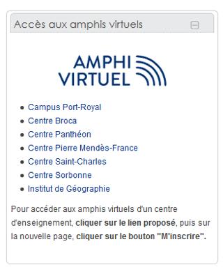 Blocs Amphis virtuels